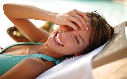 hot girl laughing at funny texts